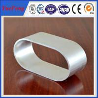 Buy cheap Industrial use 6063 natural color Oval Aluminum Extrusion of anodizing from Wholesalers