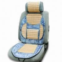 China Car Cushion Made of Bamboo and Jean with Waist Support factory