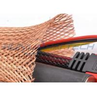 Buy cheap Meta Tinned Copper Braided Sleeving , Expandable Cable Shielding Sleeve from Wholesalers