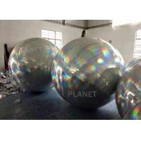 China Spherical Bright Color Silver Inflatable Mirror Ball For Party Decoration factory