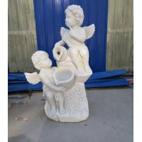 China Garden stone angel boy statue marble angel hand carved sculptures,stone carving supplier factory
