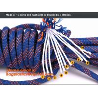 China personal protective escape rope polyester rope, high strength fire escape safety climbing rope factory