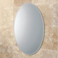 China Bevelled Edge 4mm Oval Large Round Mirrors Round For Bedroom , ISO9001 factory