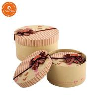 Buy cheap 2 Pieces Paper Gift Packaging Box Glossy Lamination Round Present Packaging Case from wholesalers