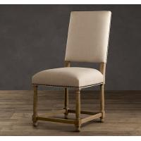 French Antique Wooden fully upholstered dining room chairs / fabric kitchen chairs