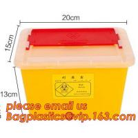 China 1L 2L 4L 6L plastic round medical disposable sharps bins, plastic disposables sharpes container /sharpes bin for medical factory