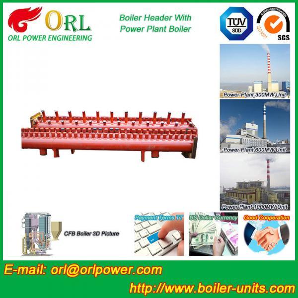 Quality Low Loss Boiler Header Manifolds / Boiler Steam Header Non Pollution for sale