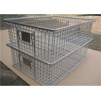 Buy cheap Chrome  Nesting Ss Wire Mesh Baskets Ray , 40mm - 120mm Large Square Wire Basket from Wholesalers