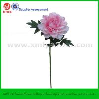 """28"""" Artificial Silk Plastic Flower of Pink Peony"""