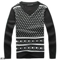 Buy cheap Armani 2014 winter new style man knitted sweater mens long sleeve v collar woollen sweater from Wholesalers