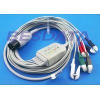 Buy cheap LL Universal One Piece ECG Cables And Leadwires 5 Lead 6 Pin Generic Clip Electrodes from Wholesalers