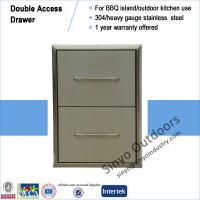 Buy cheap BBQ ISLAND 304 STAINLESS STEEL DOUBLE DRAWER ALL S/S from Wholesalers
