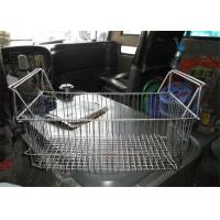 Buy cheap 120mm  Galvanized Rectangular Wire Baskets With Handles Stainless Steel Polish Woven from Wholesalers