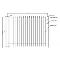 China Wrought Iron Fences and Gates PVC Coated Ornamental Wrought 1800L x 1500H on sale