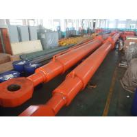 Buy cheap Custom Deep Hole Single Acting Hydraulic Cylinder For Hydropower Dump Truck from Wholesalers