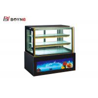 China 3 Layer Air Cooling Defrost Countertop Cake Display Fridge Showcase For Advertising on sale