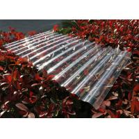Buy cheap Transparent Corrugated Polycarbonate Sheets For Roofing UV Resistant from Wholesalers