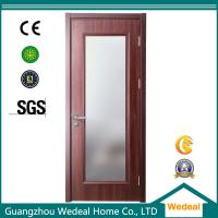 Buy cheap Factory Supply Red Wood Interior Panel Doors with Glass Panel from Wholesalers