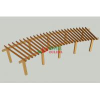 Quality 12m X 4m  Wood Plastic Composite Pergola DIY Moisture Resistance Highly Resistant To Termitesv for sale