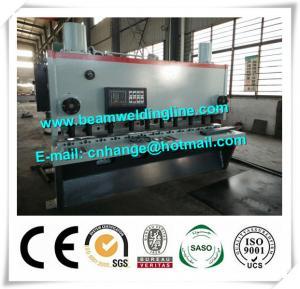 China QC11Y-6x3200 Hydraulic Guillotine Shearing Machine , NC Hydraulic Swing Shearing Machine factory