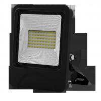 China outdoor lighting lamp flood light led 30W 60pcs SD5730 IP66 isolated IC driver black fixture new slim integrated design factory