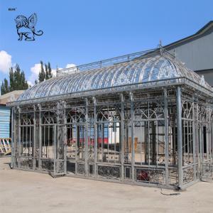 China square cast iron garden gazebo metal craft luxury wedding decoration factory
