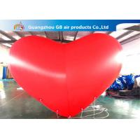 China Giant Inflatable Holiday Decorations Hanging Heart Helium Balloons factory