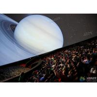 China Giant 4D Dome Cinema With Snow And Raining Effect Hemispherical Ball Curtain Screen factory