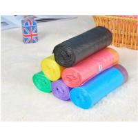 China HDPE Packaging Home Garbage Bags , Drawstring Trash Can Liners Customized Size factory