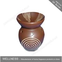 Buy cheap Different Classic Shaped Ceramic Aroma Oil Burner With Spiral Pattern from Wholesalers