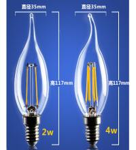 China 4W 6W C35 E14 Edison COG lamp LED Filament Bulb B22 G45 G95 ST64 bulb glass G125 factory