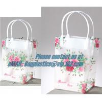 China clear PP carry bag, PP Supermarket clear pvc Shopping plastic Bag, Fashion clear plastic shopping bags with handles factory