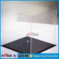 China acrylic football boot display case, clear acrylic baseball hat display case, plexiglass acrylic rectangle box factory