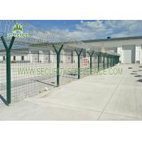 China Welded 3D Welded Wire Fence Panels Triangle Bending For Water Treatment Works on sale