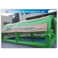 China Customized Green Small Family Inflatable Pools For Kids / Adults With Cover Tent factory