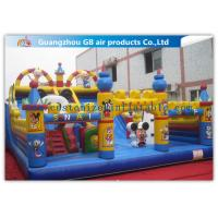 Buy cheap Commercial Inflatable Amusement Park Castles / Kids Toys Mickey Mouse Bounce House from Wholesalers