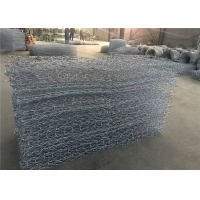 China Hot Dipped Galvanized Rock Filled Stone Cage Gabion Wire Mesh on sale