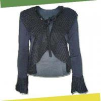 Buy cheap Women's Sweater in Black, Made of 80% Viscose, 18% Polyamide and 2% Elastane from Wholesalers