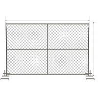 Buy cheap 6 foot x 12 foot chain link mesh temporary fencing panels with a 1 3/8 x 16GA and 2-3/8 inch temp fence from Wholesalers