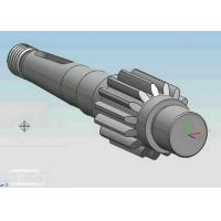 Buy cheap CNC Machining Forging Carbon Steel Bevel Gear Shaft , Machine Shaft from Wholesalers