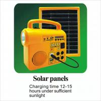 China Speaker 5V 3W Solar Panel Light Kit IP65 Waterproof Durable With Radio Sd Card factory