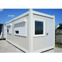 White Color Flat Pack Container House With Roller Shutter Window For Holiday