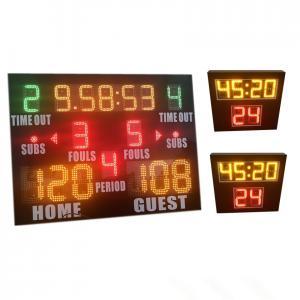 China World Cup Same Type LED Basketball Scoreboard , Portable Basketball Scoreboard factory