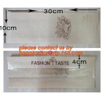 China OEM High Quality Enviromental Clear Window Bread Toast Paper Bags, Brown Kraft Sharp Bottom Food Safe Snack Paper Bags w factory
