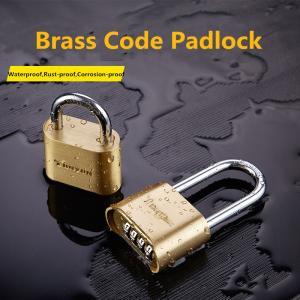 Buy cheap Four - Digit Type Long Shank Padlock , Brass Weatherproof Combination Padlock from Wholesalers