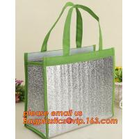 China thermal insulation 600D polyester cooler tote bag,Aluminum foil cold thermal insulation shoulder cooler bag bagease pac factory