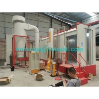 China Monocyclone Automatic  Powder Coating Production Line For Steel Parts factory