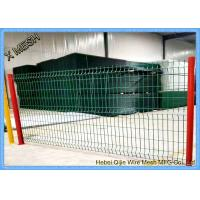 China 2.5m Width Powder Coated Curved Metal Fence / 3D Wire Mesh Fence In Blue on sale
