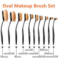 Quality 10pcs Oval Makeup Brush, Make up Brushes, Oval Toothbrush Makeup Brush Set wholesale