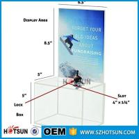 China customized hot sale clear acrylic donation box with locks high quality factory